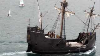 Santa María ship, Funchal, Madeira, Portugal, Africa
