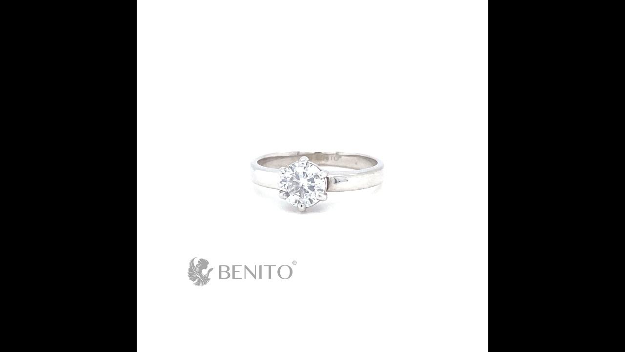 Marta Ring White Zircon Stone