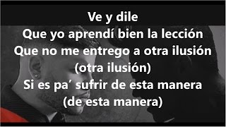LETRA YA NO ME DUELE MAS SILVESTRE DANGOND FT FARRUKO lyrics