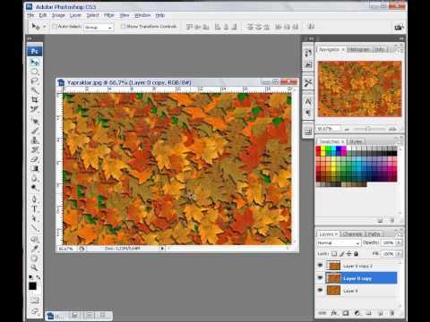 ADOBE PHOTOSHOP TEMEL    19-Resimleri Doku Desen Biçimine Dönüştürme