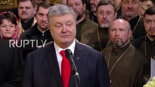 Ukraine: 'No state-controlled church' – Poroshenko at Epiphanius enthronement