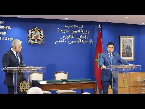 Video : Point de presse de Nasser Bourita et son homologue israélien Yair Lapid