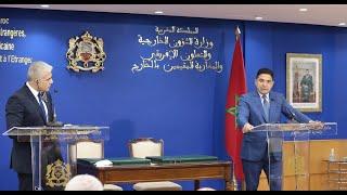 Point de presse de Nasser Bourita et son homologue israélien Yair Lapid