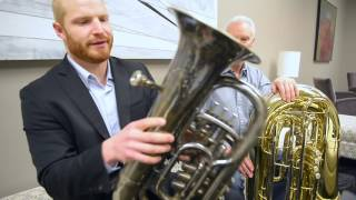Historic tuba for Utah Symphony's upcoming Pictures at an Exhibition, April 7 and 8, 2017