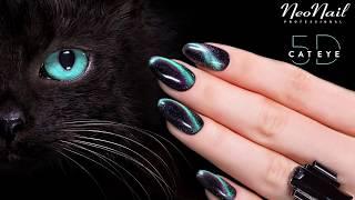 NeoNail tutorial - Jak wykonać zdobienia lakierami NeoNail Professional Cat Eye 5D
