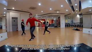 BACKSTREET BOYS -  DON'T GO BREAKING MY HEART  - TRISTAN BANDOMA CHOREOGRAPHY