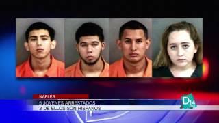 5 jóvenes arrestados en Naples