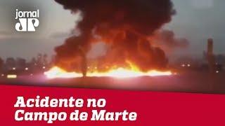 Acidente no Campo de Marte: vídeos mostram imagens da queda de avião em SP