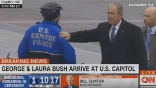 George & Laura Bush at U.S Capitol For Donald Trump Inauguration 1/20/17