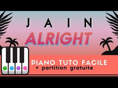 Comment jouer Alright de Jain au piano