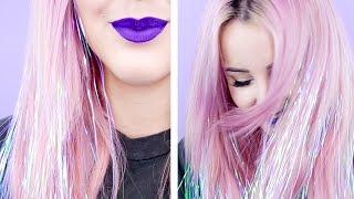 How To: Sparkly Tinsel Hair! | by tashaleelyn