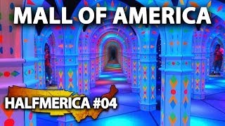 Crazy Mirror Maze At The Mall Of America ! -- #Halfmerica