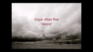 Edgar Allan Poe - Alone