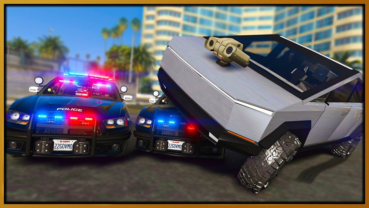 Elanip - GTA 5 Roleplay - SELF DRIVING KILLER TESLA CYBERTRUCK! | RedlineRP