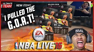 I PULLED THE GOAT! FAIL NBA LIVE 16 PACK OPENING! NEW ALLSTAR PACKS!