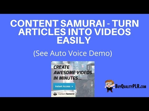The Best Way to Make Content Samurai Videos
