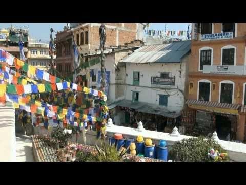 Nepal  –  stupa Bouddhnath  w  HD