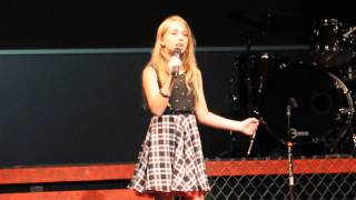 11 y.o. Brianna Jaffe sings We are the Champions ( Queen) in round 1 of the Vocalist Jr Competition