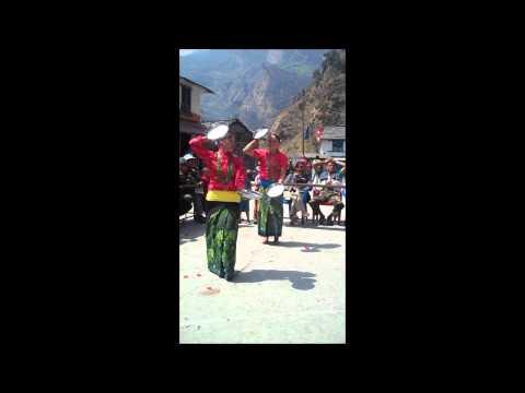 Plate Dancers, Chimkhola, Nepal Himalaya