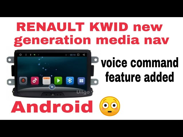 Download thumbnail for RENAULT KWID new generation media nav