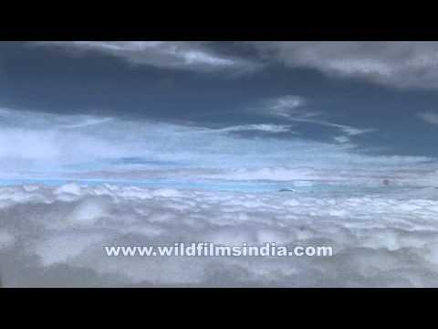 Thick cloud cover before Kathmandu…
