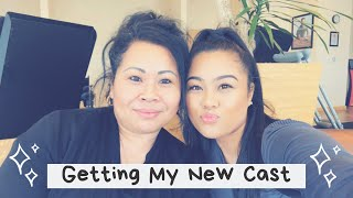 GETTING MY NEW CAST | VLOG
