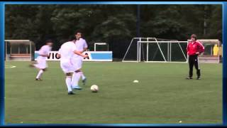 Soccer Training - Soccer Drill - Crossing and Overlapping in the Diamond