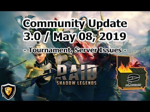 RAID: SL - Community Update 3.0 - Tournament, Server Issues