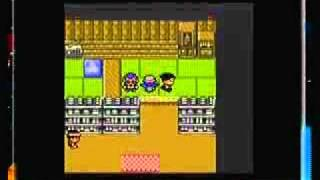 Pokemon Crystal (GBC) (17/55) Lance use Hyper Beam on a human