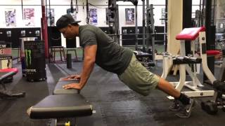 Incline Eccentric Push Up
