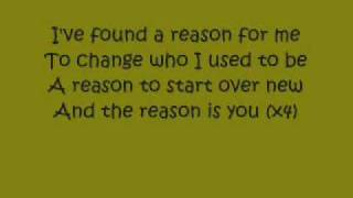 The reason - Hoobastank ( letra en inglés )