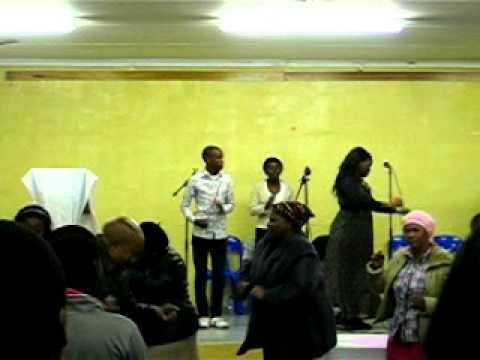 Praise Baptist Church service, KwaMakhutha, South Africa. July 2011.