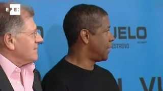 Denzel Washington apresenta em Madri seu último filme, Flight