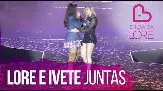 Lore e Ivete Sangalo dançando no palco em Salvador (Santinha)