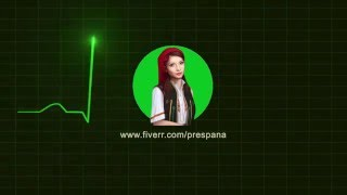 Heart Rate Trace monitor ECG Animation Logo Reveal intro Glitch v5
