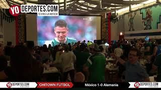 Suena El Rey en Chitown Futbol Mexico 1-0 Alemania en Rusia 2018