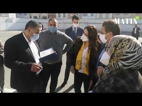 Video : Ben M'sik- Casablanca : Installation du premier centre de vaccination anti-coronavirus