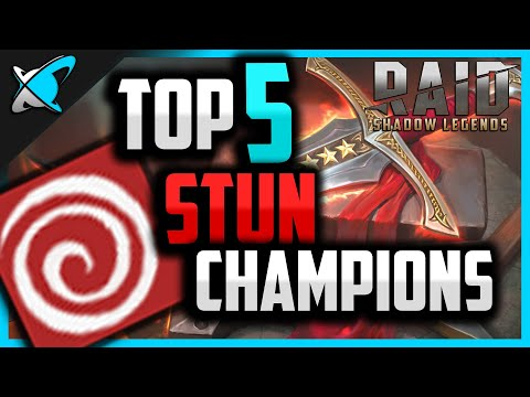 Top 5 STUN CHAMPIONS !! | Dominate the Arena ! | RAID: Shadow Legends