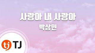 [TJ노래방] 사랑아내사랑아 - 박상민 / TJ Karaoke