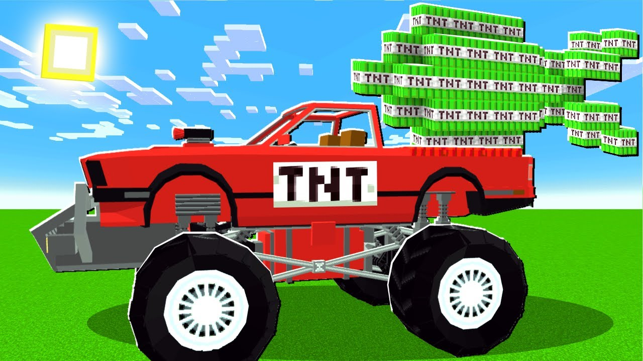 UnspeakableGaming - I Used TNT MONSTER Trucks To BLOW UP MINECRAFT!