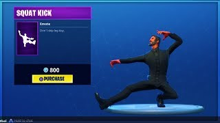 NEW SQUAT KICK (KASATSCHOK) DANCE/EMOTE (Fortnite Battle Royale)