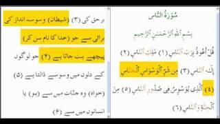 Quran Surah An Nas N Surah Al Falaq  With Urdu Translation