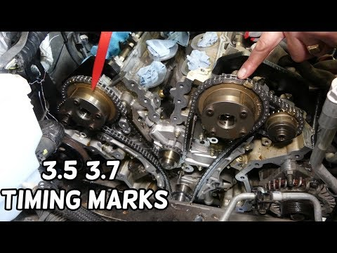 TIMING MARKS FORD LINCOLN MAZDA 3.5 3.7 V6 ENGINE. TIMING CHAIN MARKS