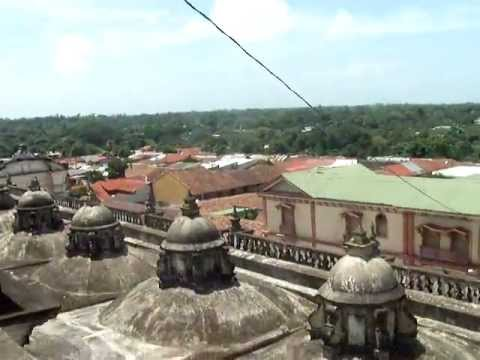 video of roof at Main Cathedral in Leon, Nicaragua UNESCO site