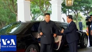 Kim Jong Un Arrives at Summit Location width=