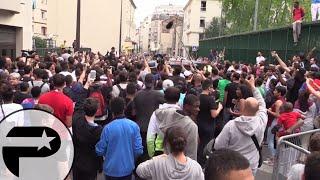 Michael Jordan créer la cohue pour l'inauguration d'un playground à Paris