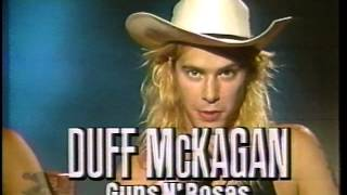 Deep Purple, Aerosmith and Guns N' Roses' News Report from 1988