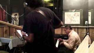 Pepe rubio baterista,Jaime de la Parra,Pepe Moran-  TRIO  Jazz Colonia Roma Mexico Df