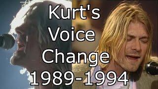 Nirvana - About A Girl - Kurt's Voice Change 1989-1994 (Live Mix)