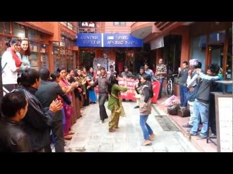 Street Dancing in Kathmandu